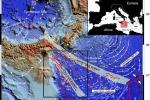 Nella mappa, la zona in cui è stato scoperto il sistema di faglie