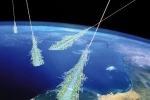 Rappresentazione grafica dei raggi cosmici, le particelle cariche di energia che arrivano dallo spazio (fonte: NASA)