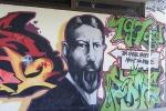 Un graffito con il ritratto di Max Weber. Un secolo fa la Conferenza di Monaco su 'La scienza come professione' (fonte: Max-Weber-Schule)
