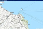 Il terremoto di magnitudo 2,6 è avvenuto al largo di Ancona (fonte: INGV)