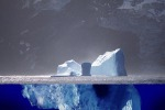 Rappresentazione artistica di un iceberg (fonte: Uwe Kils e Wiska Bodo)