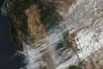 Gli incendi fotografati dal satellite Suomi NPP della Nasa e Noaa (fonte: NASA/Goddard, Lynn Jenner / CAL fire website)
