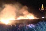 Macchia mediterranea in fiamme