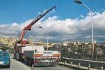 Viadotto Bisantis, i ponteggi per i nuovi lavori