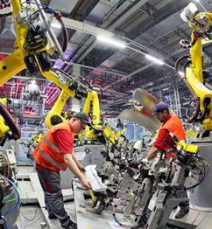 Brusco calo della produzione industriale