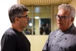Il regista Paolo Genovese e lo chef Igles Corelli alla Città del Gusto di Roma