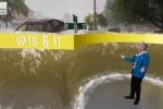 Un frame del video di simulazione dell'Uragano
