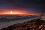 Ricostruzione artistica del pianeta Proxima b (fonte: ESO/M. Kornmesser)