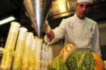 (Foto Archivio) Alcune provette dosatore utilizzate per un pranzo molecolare realizzato da uno staff diretto dallo chef Ettore Bocchia