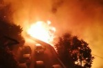Paura per un incendio dopo i fuochi