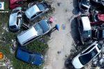 Palermo, scoperta maxi discarica con un drone: rifiuti e 51 auto senza targa