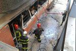 Messina, incendio alla facoltà di Scienze: arredi in fiamme - Foto e video