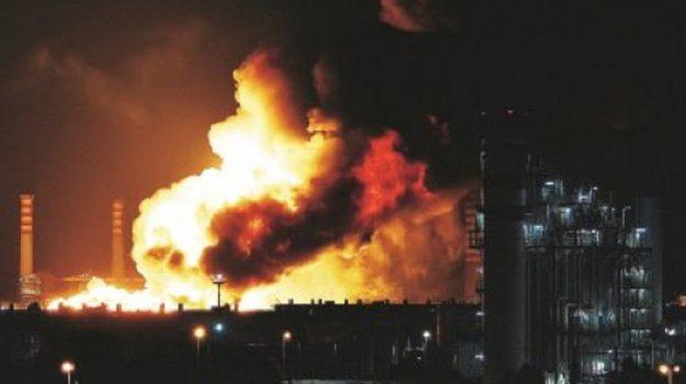 incendio 2014, raffineria milazzo, Messina, Sicilia, Cronaca