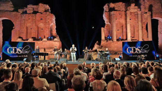 Il Teatro Antico di Taormina dove si è svolta la serata