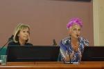 La presidente della Rete nazionale degli istituti alberghieri e a destra la chef Cristina Bowerman, presidente Ambasciatori del gusto