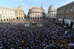 Commemorazione in piazza De Ferrari a Genova