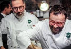Gli chef Morelli e Niederkofler insieme per festeggiare i primi 25 anni del Pomiroeu