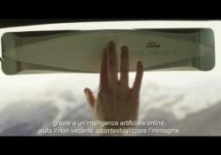 Il dispositivo trasforma le immagini scattata da una fotocamera in impulsi tattili: il passeggero può «sentire» il paesaggio con le dita