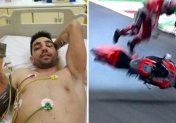 Trauma cranico dopo l'incidente durante le libere del Mugello in sella alla Ducati