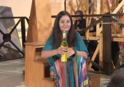 Premio Strega, Helena Janaczek rispetta le tradizioni e beve il liquore sul palco L'assegnazione dell'ambito premio letterario - Agenzia Vista/Alexander Jakhnagiev