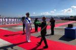 Milazzo, cerimonia militare per la fregata Luigi Rizzo