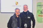 Horacio Pagani, fondatore e patron della Pagani Automobili e Pietro Innocenti, direttore generale di Porsche Italia