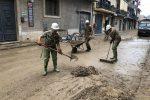 Alluvione in provincia di Catania, l'esercito al lavoro per il ripristino della viabilità