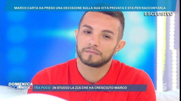 marco carta gay coming out, barbara d'urso, Marco Carta, Sicilia, Società