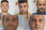 Spaccate e rapine, cinque arresti a Vittoria: nomi e foto