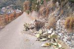 Smottamenti senza fine a Taormina, via Calvario chiusa al transito