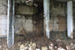 Strade allagate e traffico in tilt, a Rossano crolla la parete di una galleria