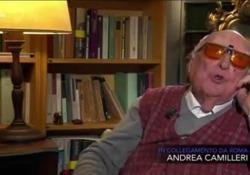 L'invettiva di Andrea Camilleri in tv: «È una fortuna oggi essere ciechi, non vedere le facce di chi semina l'odio» L'invettiva dello scrittore siciliano a «Che tempo che fa» - Corriere Tv