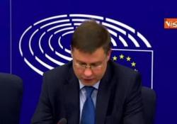 Manovra, Dombrovskis: «Per la prima volta Commissione chiede a un Paese membro di rivederla» L'Ue boccia la manovra italiana - Agenzia Vista/Alexander Jakhnagiev