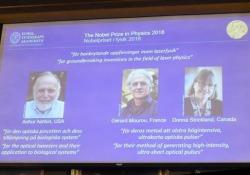 Il premio a Ashkin, Mourou e Strickland
