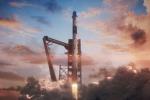 Rappresentazione artistica del lancio della capsula Crew Dragon della Space X con un razzo Falcon 9 (fonte: NASA)