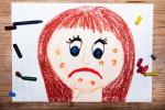Il morbillo in un disegno infantile