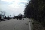 Frana su statale Lago Maggiore (Archivio)