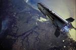 Rappresentazione artistica del satellite Goce, dell'Esa (fonte: AOES Medialab)