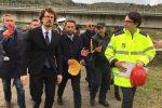 """Sopralluogo del ministro Toninelli al viadotto Himera: """"Lo Stato è qui per accelerare i cantieri"""""""