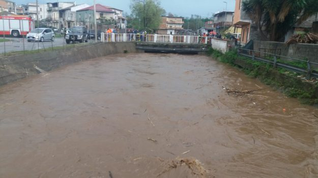 fiume budello, matempo calabria, Reggio, Calabria, Cronaca