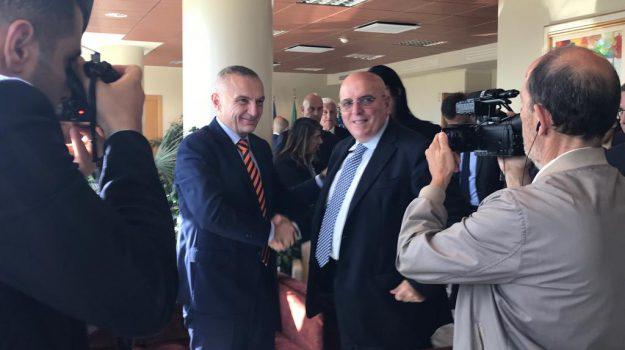 incontro albania calabria, Ilir Meta, Mario Oliverio, Catanzaro, Calabria, Politica