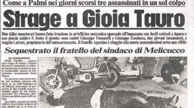strage gioia tauro anniversario, Angelo Lattari, Giuseppe Tomaselli, Giuseppe Zambara, Reggio, Calabria, Cronaca