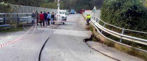 Maltempo, il comune di Drapia è isolato a causa del cedimento di un piccolo ponte