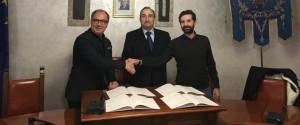 Da sinistra Corrado Bonfanti, Giovanni Parente e Giuseppe Ranuccio