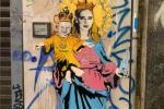 """A Milano spunta un murales ironico su """"Santa """"Chiara Ferragni: ecco l'opera di Tvboy"""