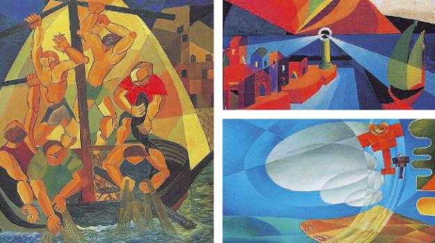FUTURISMO SICILIA PITTURA, Giulio D'Anna, Messina, Sicilia, Cultura