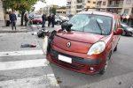 Incidente stradale a Messina, scontro tra auto e moto: ferito il centauro