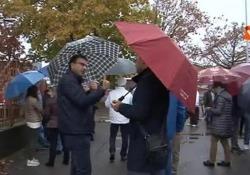 Pernigotti chiude, a Novi Ligure anche il sindaco in piazza con gli operai: Protesta dei lavoratori e del sindaco di Novi Ligure per la chiusura dello stabilimento Pernigotti - Agenzia Vista/Alexander Jakhnagiev