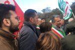 Lsu e sindaci dell'Alto Jonio in corteo, le immagini della protesta di Amendolara