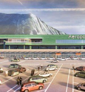 Il rendering dei lavori all'aeroporto di Palermo